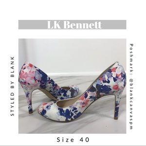 L.K. Bennett Multicolor Floral Pumps Coral, blue +